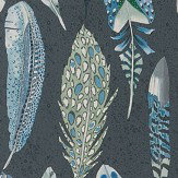 Designers Guild Quill Cobalt Wallpaper