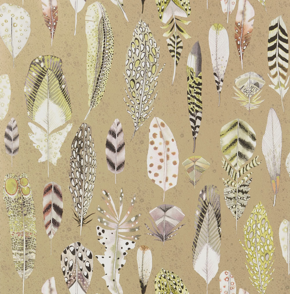 Designers Guild Quill Metallic Gold Wallpaper main image