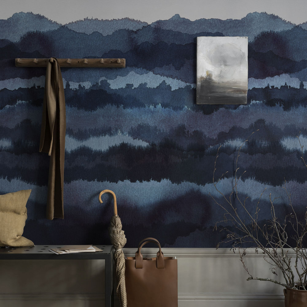Midnatt Mural - Midnight Blue - by Sandberg