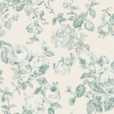 The Paper Partnership Melide Oatmeal / Aqua Wallpaper