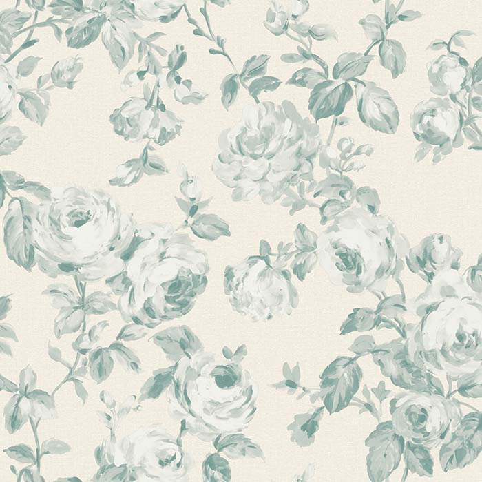 The Paper Partnership Melide Oatmeal / Aqua Wallpaper - Product code: WP0100602