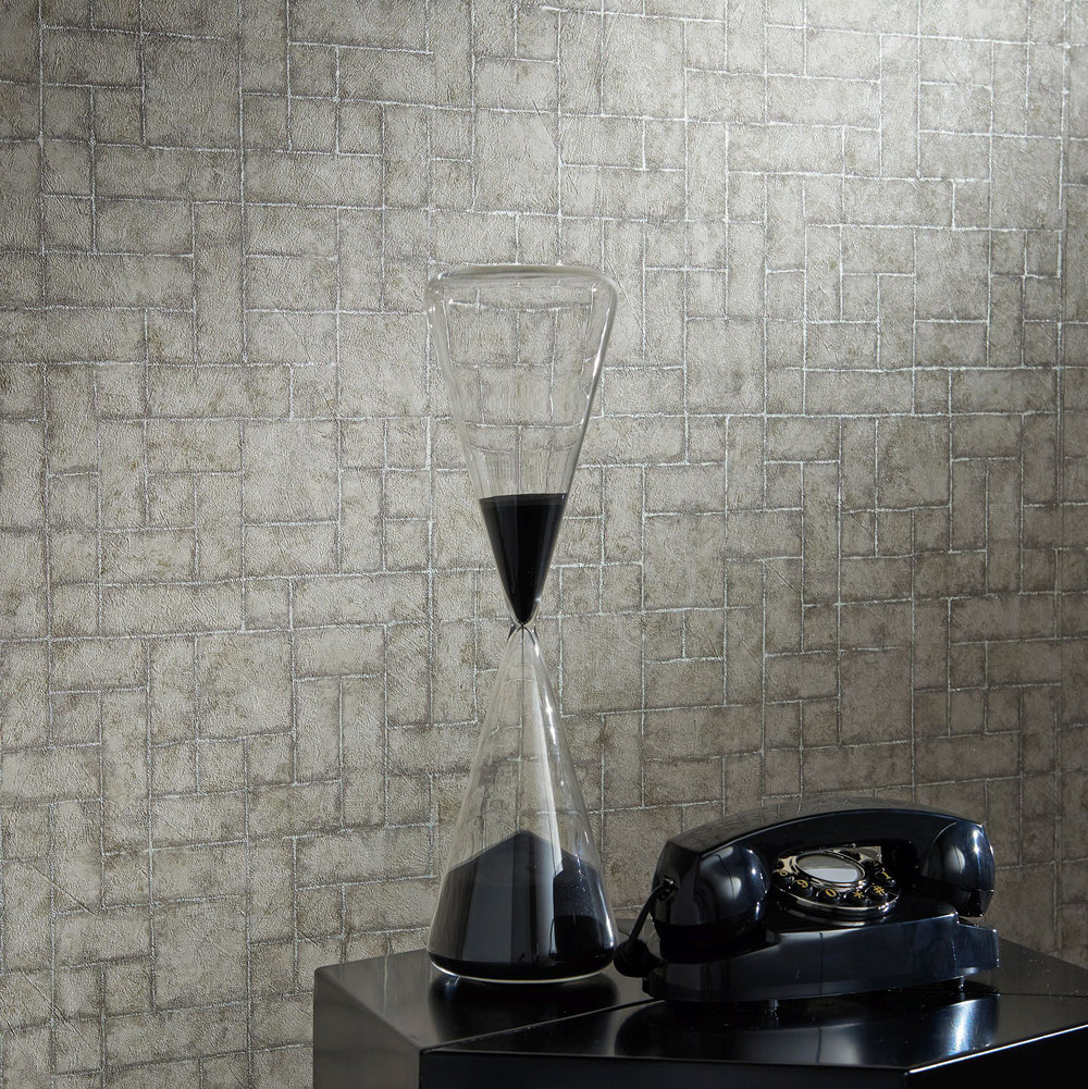 Sandstone Wallpaper - Pearl - by Clarke & Clarke