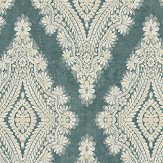 The Paper Partnership Bellano Teal Wallpaper