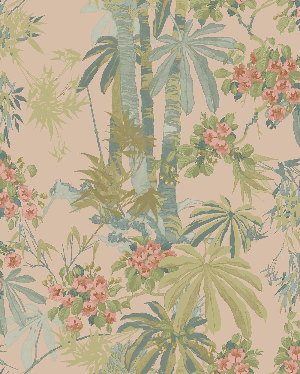 Linwood Bamboo Garden Dusky Pink Wallpaper main image
