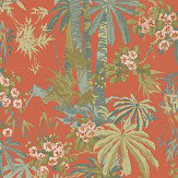 Linwood Bamboo Garden Tomato Wallpaper