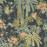 Linwood Bamboo Garden Navy Wallpaper