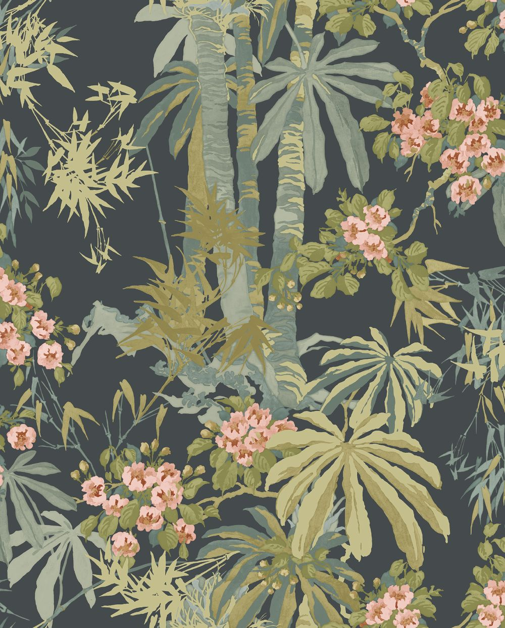Linwood Bamboo Garden Navy Wallpaper - Product code: LW077/003