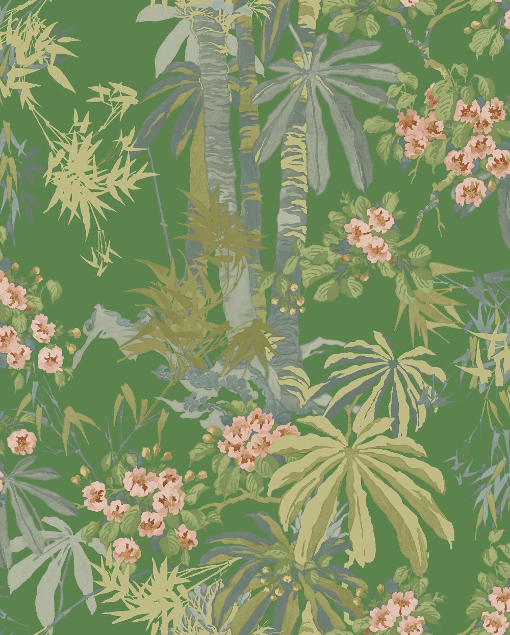Linwood Bamboo Garden Emerald Wallpaper main image