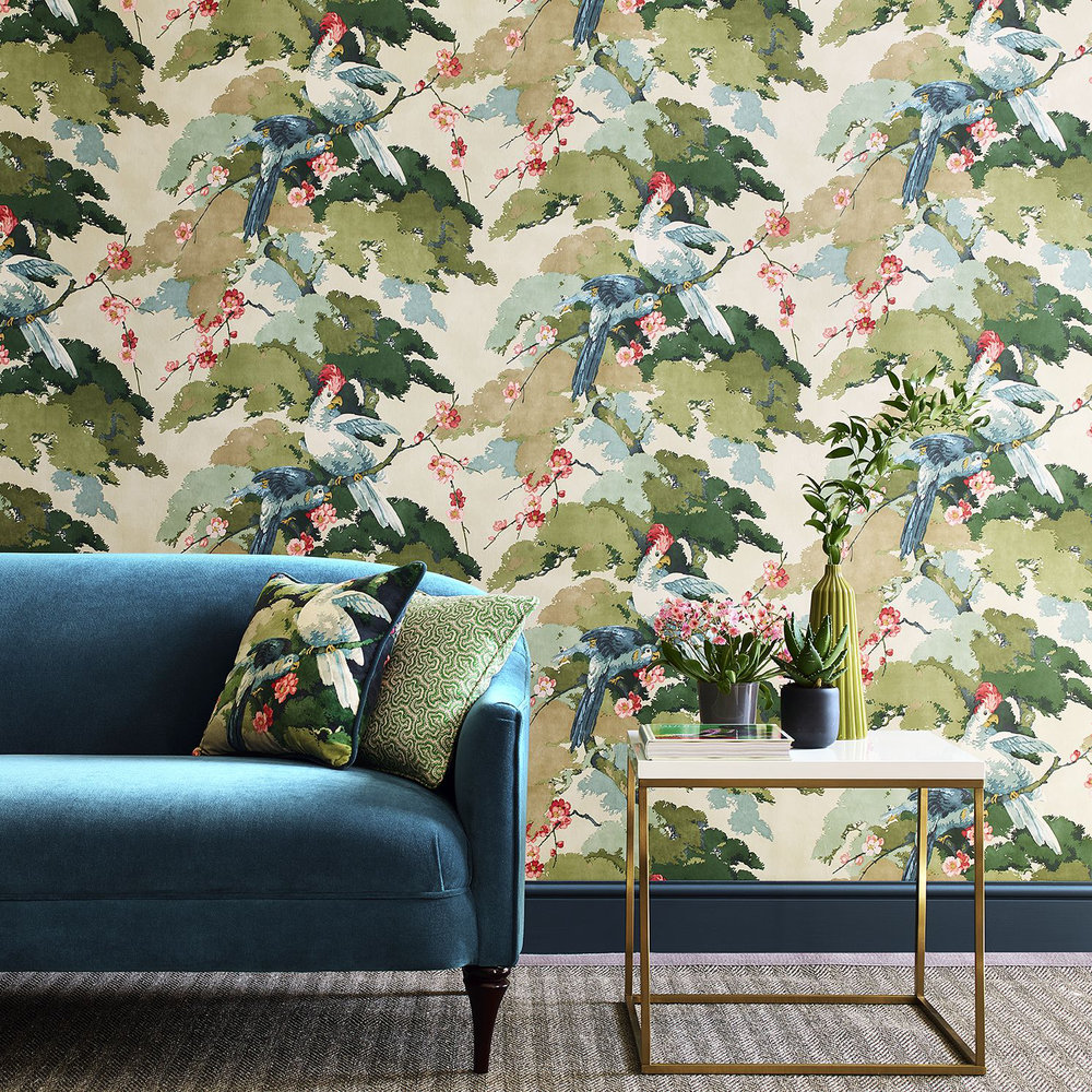 Linwood Jungle Jive Blossom Wallpaper - Product code: LW078/001