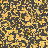 Versace Ladybird Trail Black / Gold Wallpaper