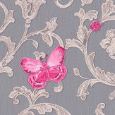 Versace Ladybird Trail Grey Wallpaper