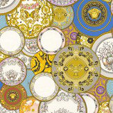Versace Decorative Plates Multi-coloured Wallpaper - Product code: 34901-1