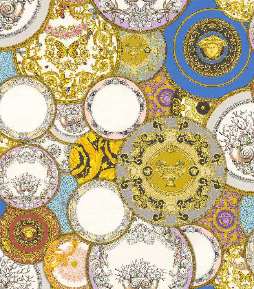 Decorative Plates by Versace - Multi-coloured : Wallpaper Direct