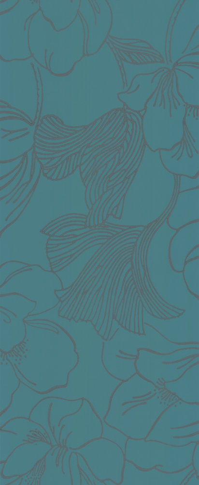 Farrow & Ball Helleborus Deep Teal Wallpaper - Product code: BP 5605