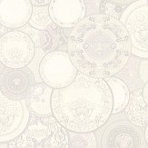 Versace Decorative Plates White Wallpaper