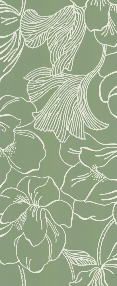 Farrow & Ball Helleborus Green Wallpaper main image