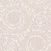 Versace Barocco Flowers White Wallpaper