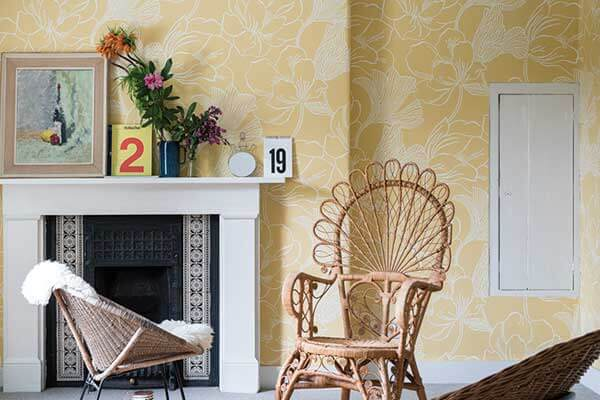 Farrow & Ball Helleborus Yellow Wallpaper