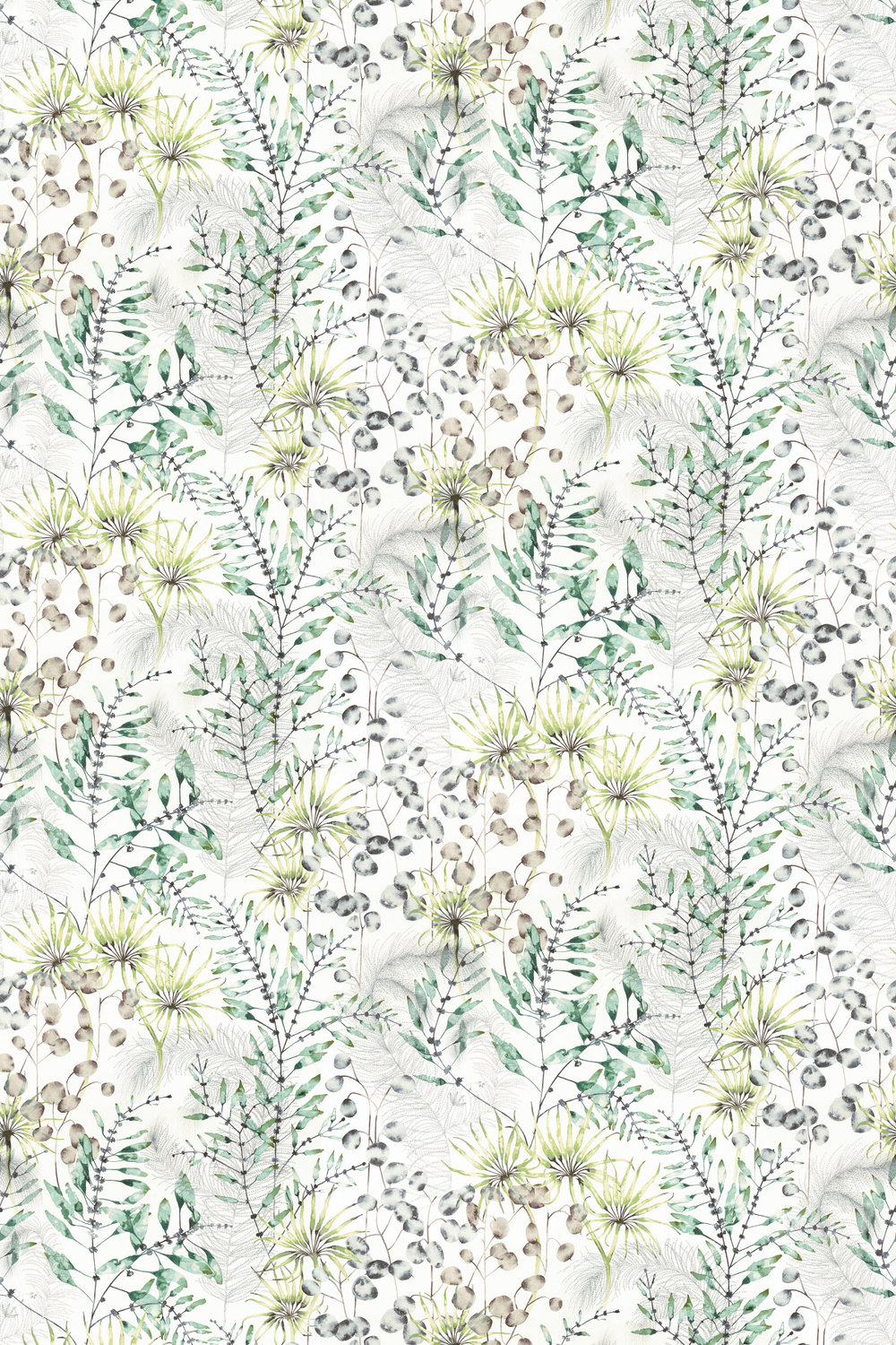 Postelia Fabric - Emerald / Lime - by Harlequin