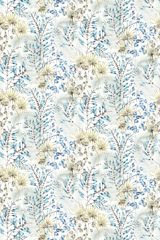 Postelia Fabric - Lagoon / Linden - by Harlequin