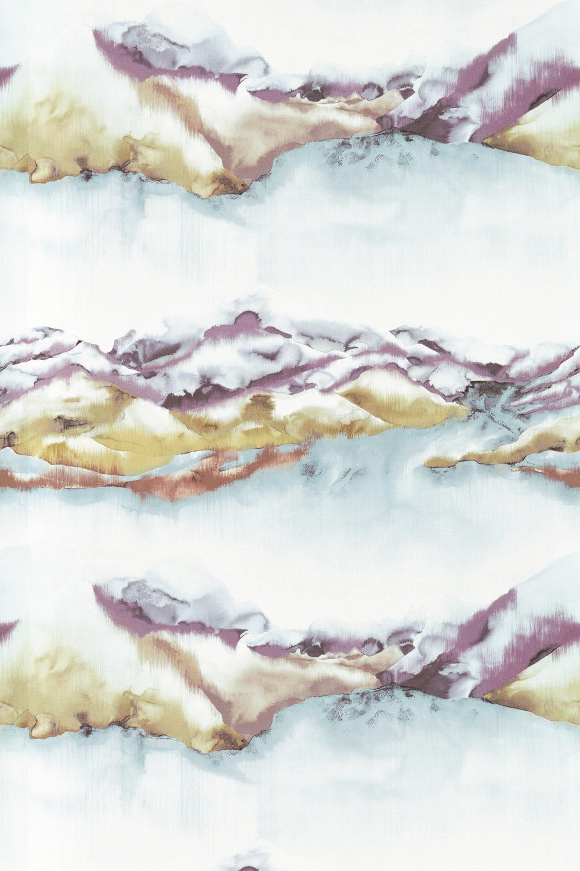Kailani Fabric - Mandarin / Fig - by Harlequin