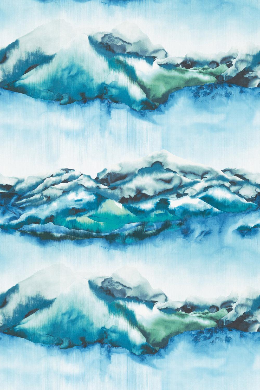 Kailani Fabric - Marine / Lime - by Harlequin