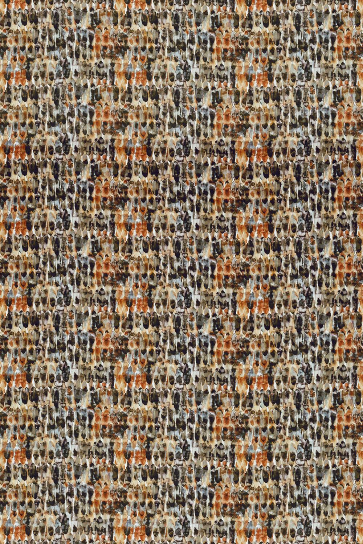 Kelambu Fabric - Amber / Slate - by Harlequin