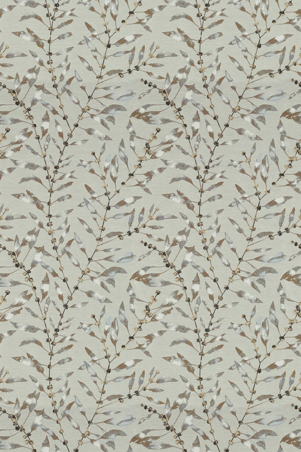 Chaconia Fabric - Brass / Ink - by Harlequin