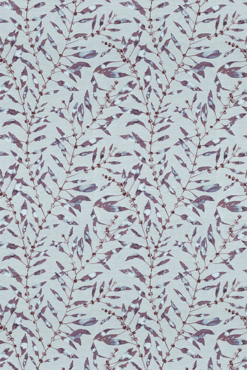Chaconia Fabric - Berry / Heather - by Harlequin