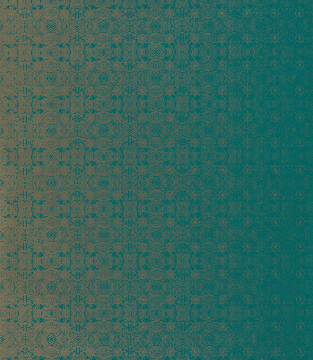 Eminence Wallpaper - Emerald & Champagne - by Harlequin
