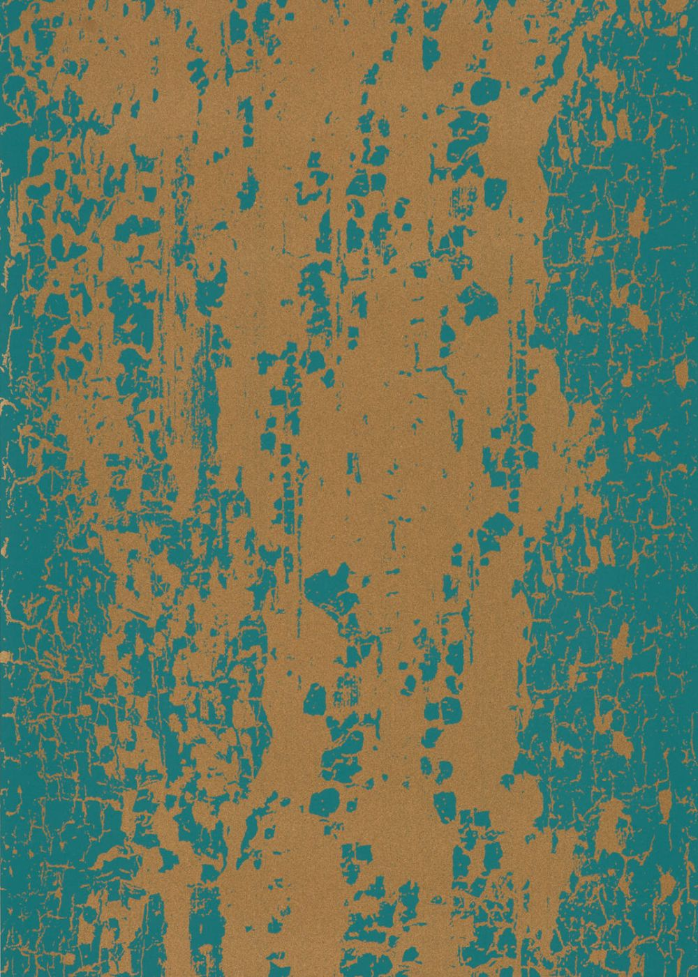 Eglomise Wallpaper - Emerald & Rich Gold - by Harlequin