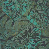 Casadeco Leaves Emerald Wallpaper - Product code: PANA 8107 75 09