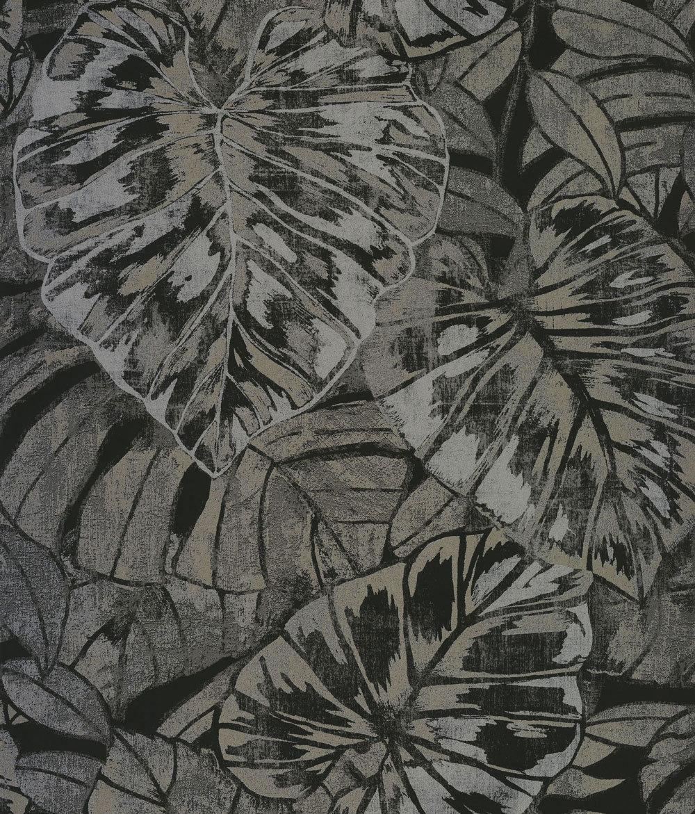 Casadeco Leaves Noir Wallpaper - Product code: 81079531