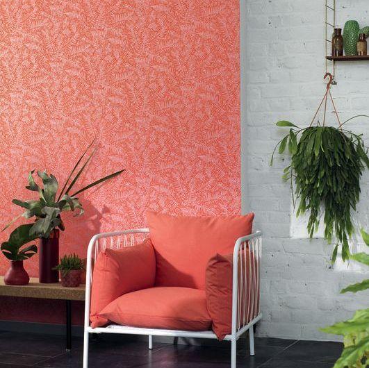 Casadeco Fern Orange Wallpaper - Product code: PANA 8108 36 13