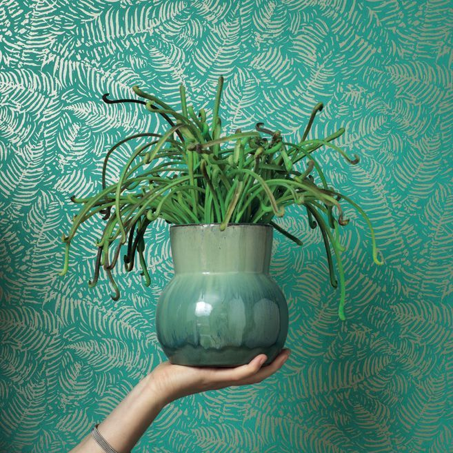 Fern Wallpaper - Emerald - by Casadeco
