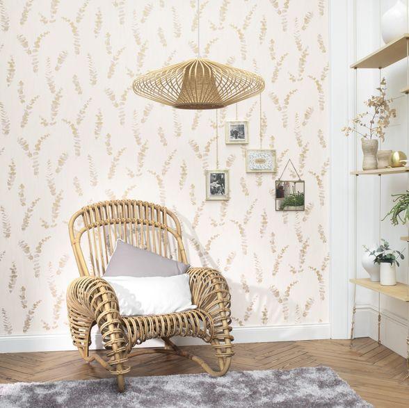 Casadeco Eucalyptus Yellow Wallpaper - Product code: PANA 8109 23 04