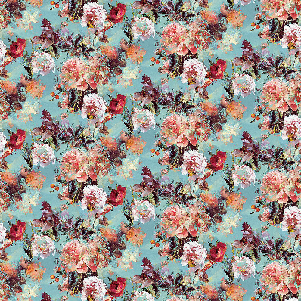 Flamboyant Wallpaper - Blue - by Jean Paul Gaultier