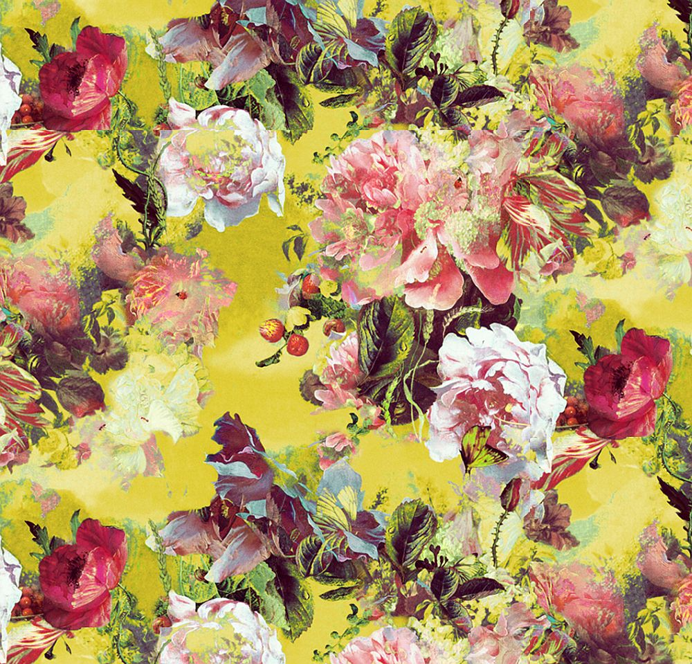 Flamboyant Wallpaper - Yellow - by Jean Paul Gaultier