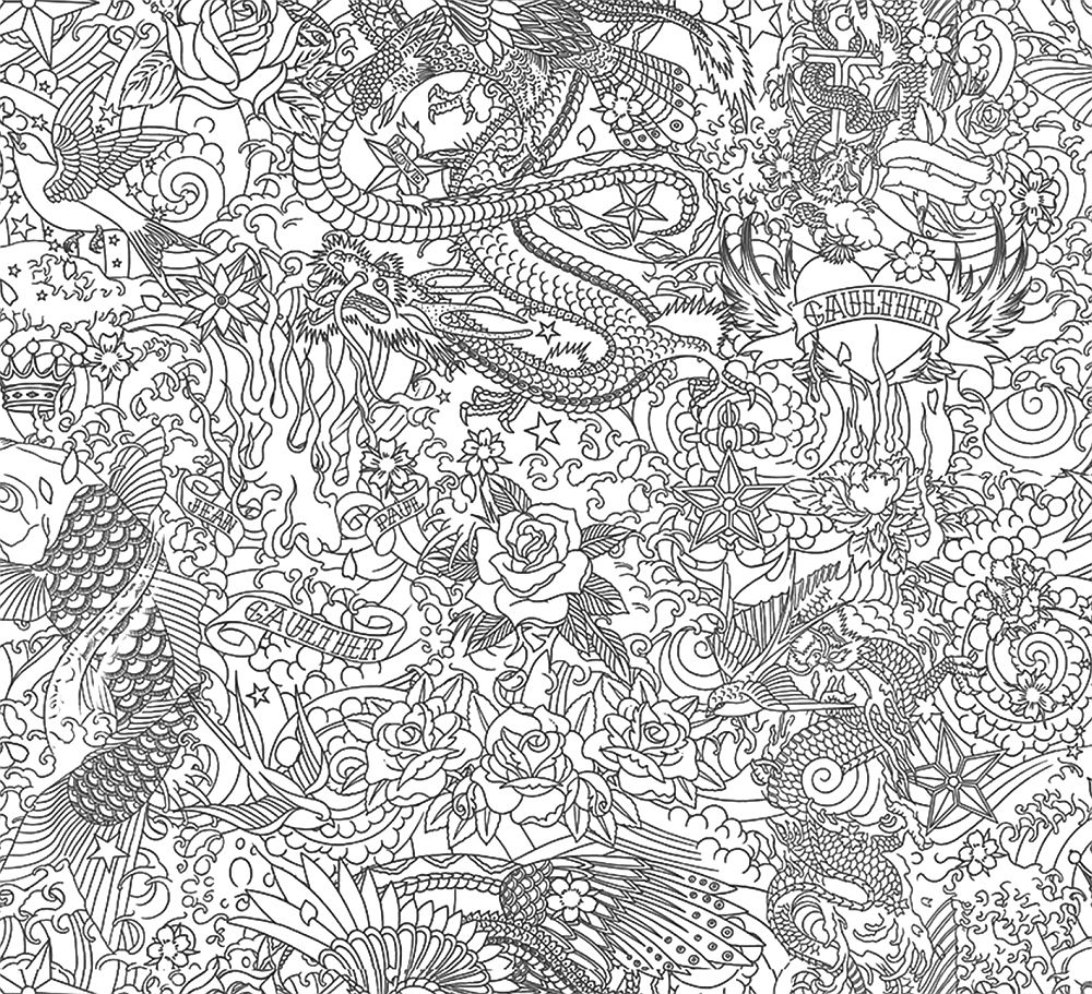 Jean Paul Gaultier Horimono Noir Wallpaper - Product code: 3303/06