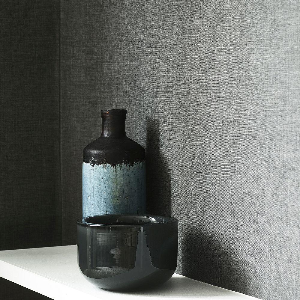 Jaro Wallpaper - Charcoal - by Jane Churchill