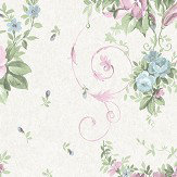 Holden Decor Sylvie  Lilac and Blue Wallpaper