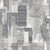 Jane Churchill Cityscape Black / White Wallpaper - Product code: J171W-01