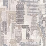 Jane Churchill Cityscape Neutral Wallpaper