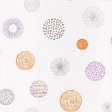 Caselio Graphic Circle Orange and Lilac Wallpaper