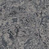 SketchTwenty 3 Cloud Marble Dark Blue / Silver Wallpaper