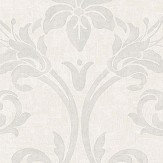 Casadeco Art Nouveau White and Silver Wallpaper