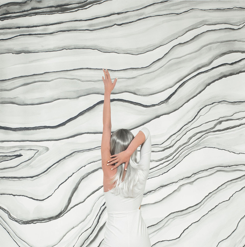 Agate Mural - Monochrome - by Casadeco
