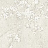 Casadeco Floral Parsley Soft Silver Wallpaper