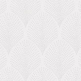 Casadeco Petite Palmette White and Silver Wallpaper