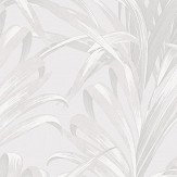 Casadeco Bamboo White and Silver Wallpaper